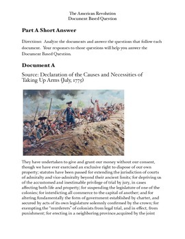 American Revolution Document Based Question ( 7-10 Class Sessions)