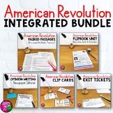 American Revolution & ELA Integrated Bundle: Reading, Writing & Social Studies