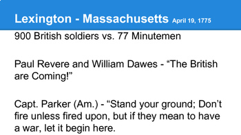 American Revolution - Early Battles of the War