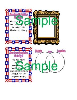 American Revolution Enrichment File Folder Activities / Centers