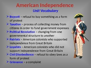 American Revolution Era, STAAR Powerpoint Lecture