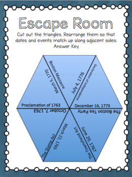 American Revolution Escape Room Mystery