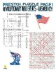 American Revolution Events Puzzle Page (Wordsearch and Criss-Cross)