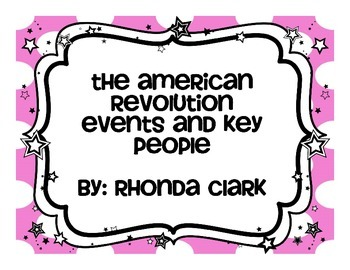 American Revolution Events and Key Figures