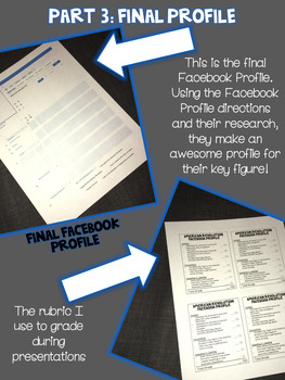 American Revolution Facebook Profile Project {4th & 5th Grade}