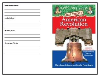 American Revolution Fact Tracker Booklet Chapters 1-9