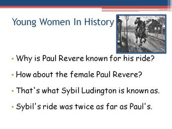 American Revolution ~ Female Paul Revere ~ Sybil Ludington