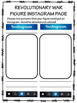 American Revolution Figure Project; Twitter; Instagram; All Steps; No-Prep