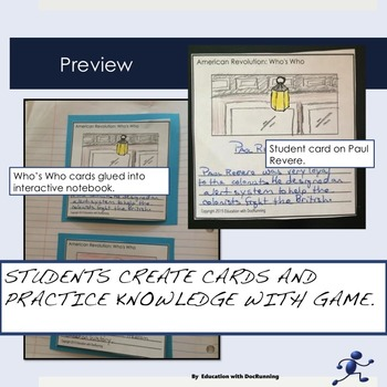 American Revolution People of the Revolutionary War Whos Who Activity EDITABLE
