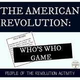 American Revolution Activity People of the Revolutionary W