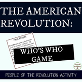 American Revolution People of the Revolutionary War Whos W