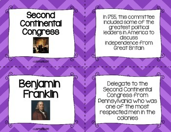 American Revolution Flash Cards