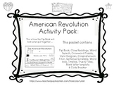 American Revolution Engage NY ELA Domain 10 and CK Flip Book and Activity Pack