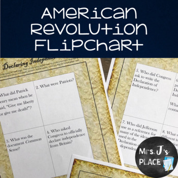 American Revolution Flipchart Panel Activity