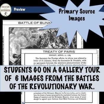 American Revolution Battles Gallery Walk Activity for the Revolutionary War