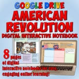 American Revolution Google Drive Interactive Notebook