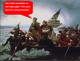 American Revolution Graphic Organizer & questions  11 x 17 size!