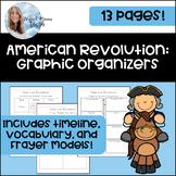 American Revolution Graphic Organizers