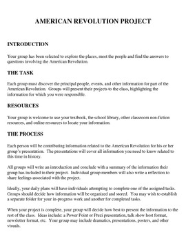 American Revolution Group Project byKMediaFun