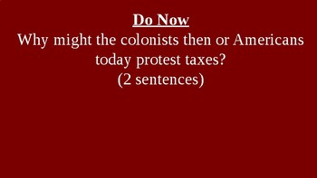 American Revolution - Growing Discontent - PowerPoint