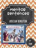 American Revolution Guidebook Mentor Sentence Frame
