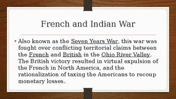 American Revolution Guided Notes - Powerpoint
