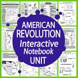 American Revolution Interactive Notebook (HARD COPY) 9 Revolutionary War Lessons
