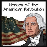 American Revolution Battles and People Cartoon Notes and Stations
