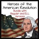 American Revolution Activity on Heroes Bundle 2 Versions with Review Game
