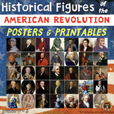 American Revolution Historical Figures Posters and Printables