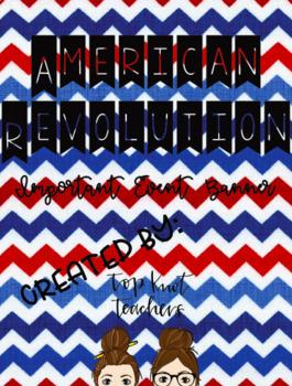 American Revolution Important Event Banner
