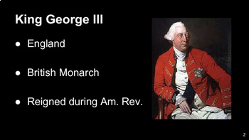 American Revolution - Important People