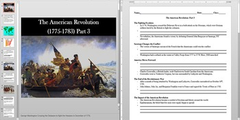 American Revolution Important People and Battles Powerpoint AND Notes Worksheet