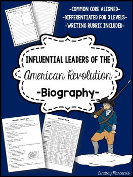 American Revolution Influential Leaders Biography