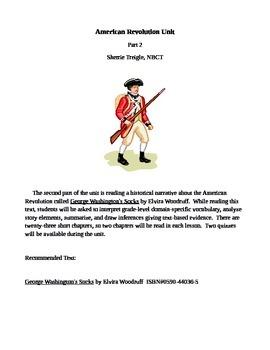 American Revolution Integrated Common Core Unit Part 2