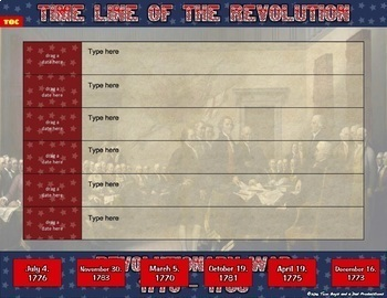 American Revolution Interactive Digital Notebook for Google Drive®