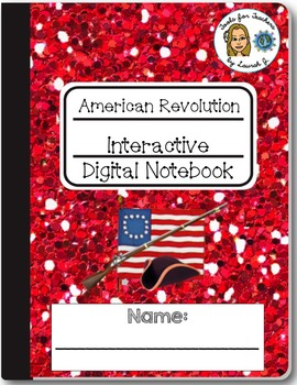 American Revolution Interactive Digital Notebook for Google Drive