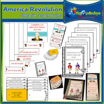 American Revolution Interactive Foldable Booklets