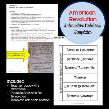 American Revolution Interactive Notebook