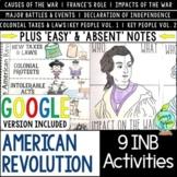 American Revolution Interactive Notebook Activities, US Revolutionary War INB