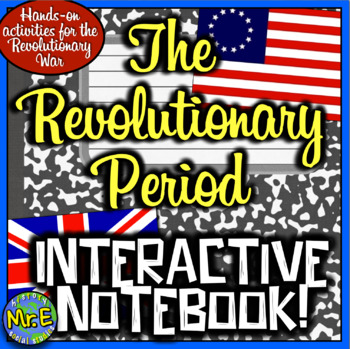 American Revolution Interactive Notebook! Engaging Resource on Revolutionary War