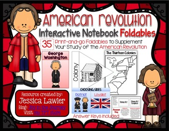 American Revolution Interactive Notebook Foldables MEGA Packet