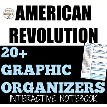 American Revolution 20+ Interactive Notebook Graphic organizers