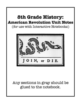 American Revolution Interactive Notebook and Foldable Files