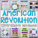 American Revolution Interactive Notebook and Graphic Organizers American History