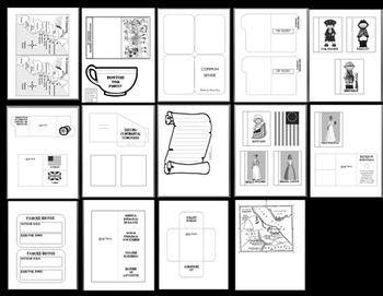 American Revolution Interactive Notebook and Instructional Powerpoint
