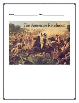American Revolution Interactive Notes 4th Grade SS