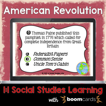 American Revolution Interactive Task Cards