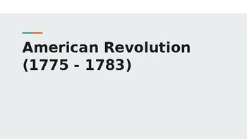 American Revolution Intro