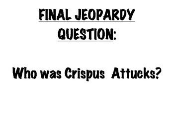 American Revolution Jeopardy